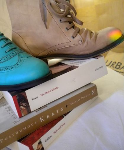 A Good Pair of Shoes and Good Books. That's All You Need— Except, for Cake, of course.
