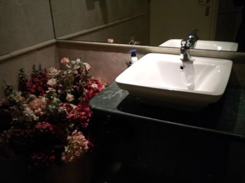 Flowers And Pleasant Bowls To Wash Your Hands In